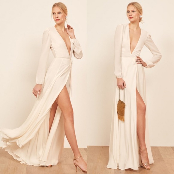 Reformation Milan Dress in Ivory NWT
